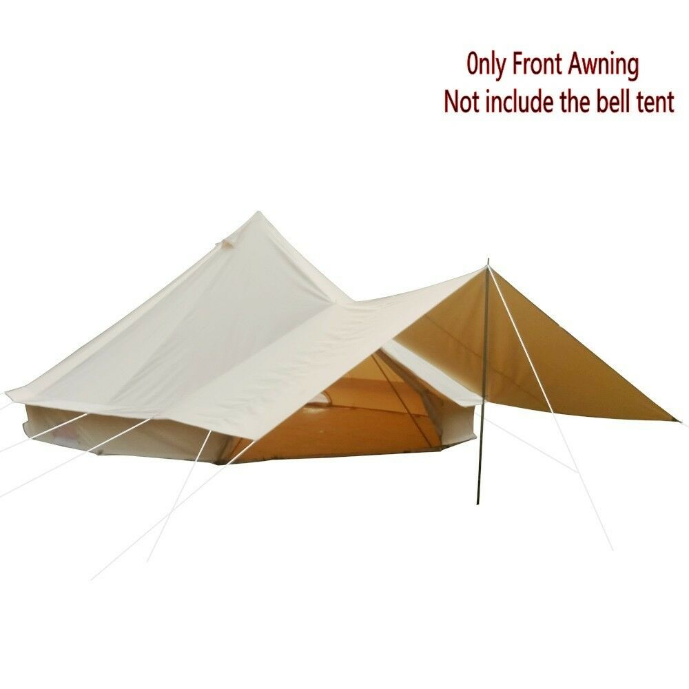 Sun Canopy Front Awning Tent Tarp Cotton Canvas for 3m 4m 5m 6m Bell Tent