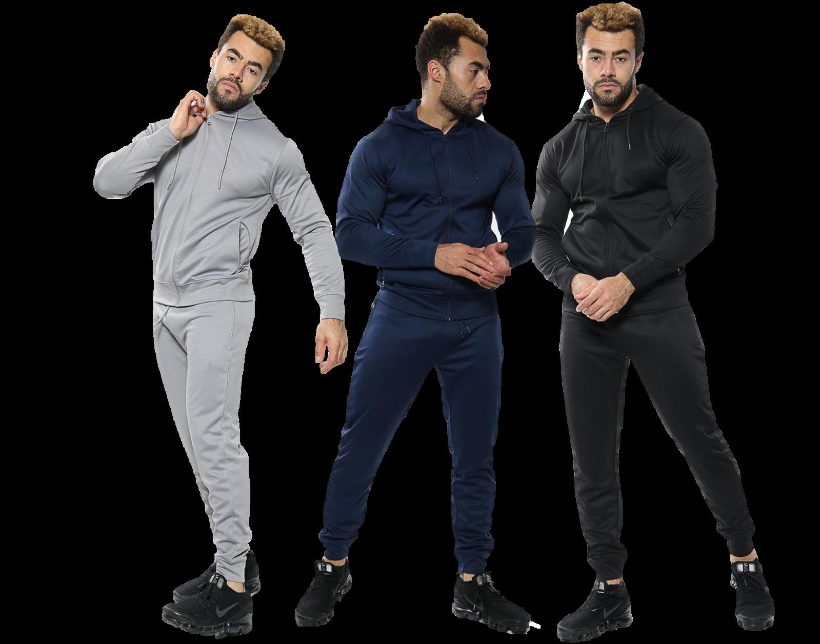 Mens Tracksuit Jogging Suit Hoodie Coat Jacket Trousers Pants Comfort Sports Set