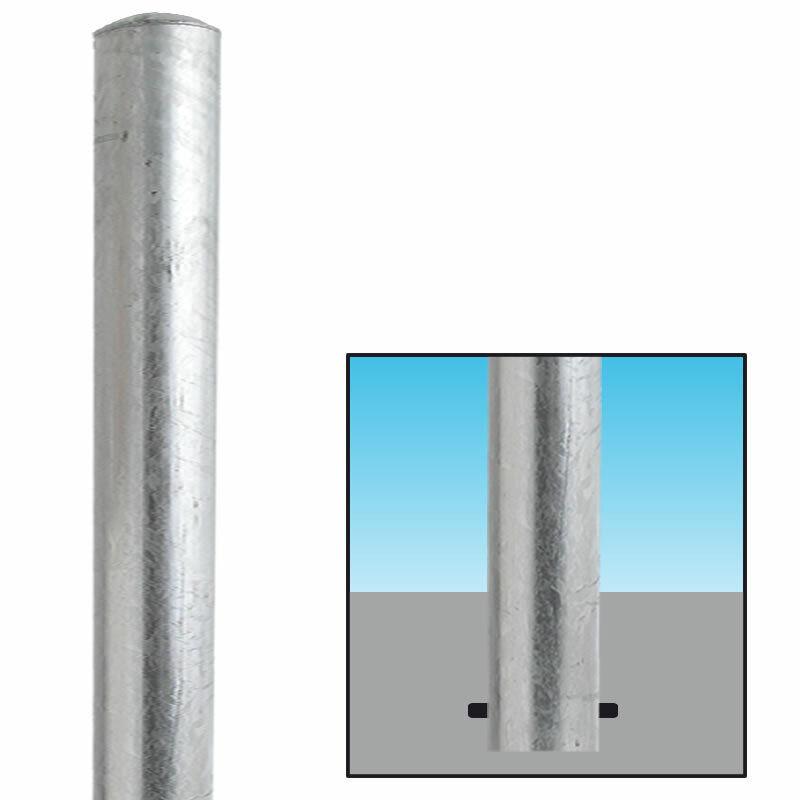 Absperrpfosten verzinkt Ø152mm zum Einbetonieren 101889