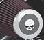 Screamin/' Eagle Willie G Skull Heavy Breather Decorative Endcap 28720-10