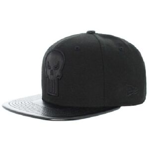 S79 NEW ERA 9FIFTY MARVEL Strapback Baseball Cap   PUNISHER   All ... ff2175fcaed