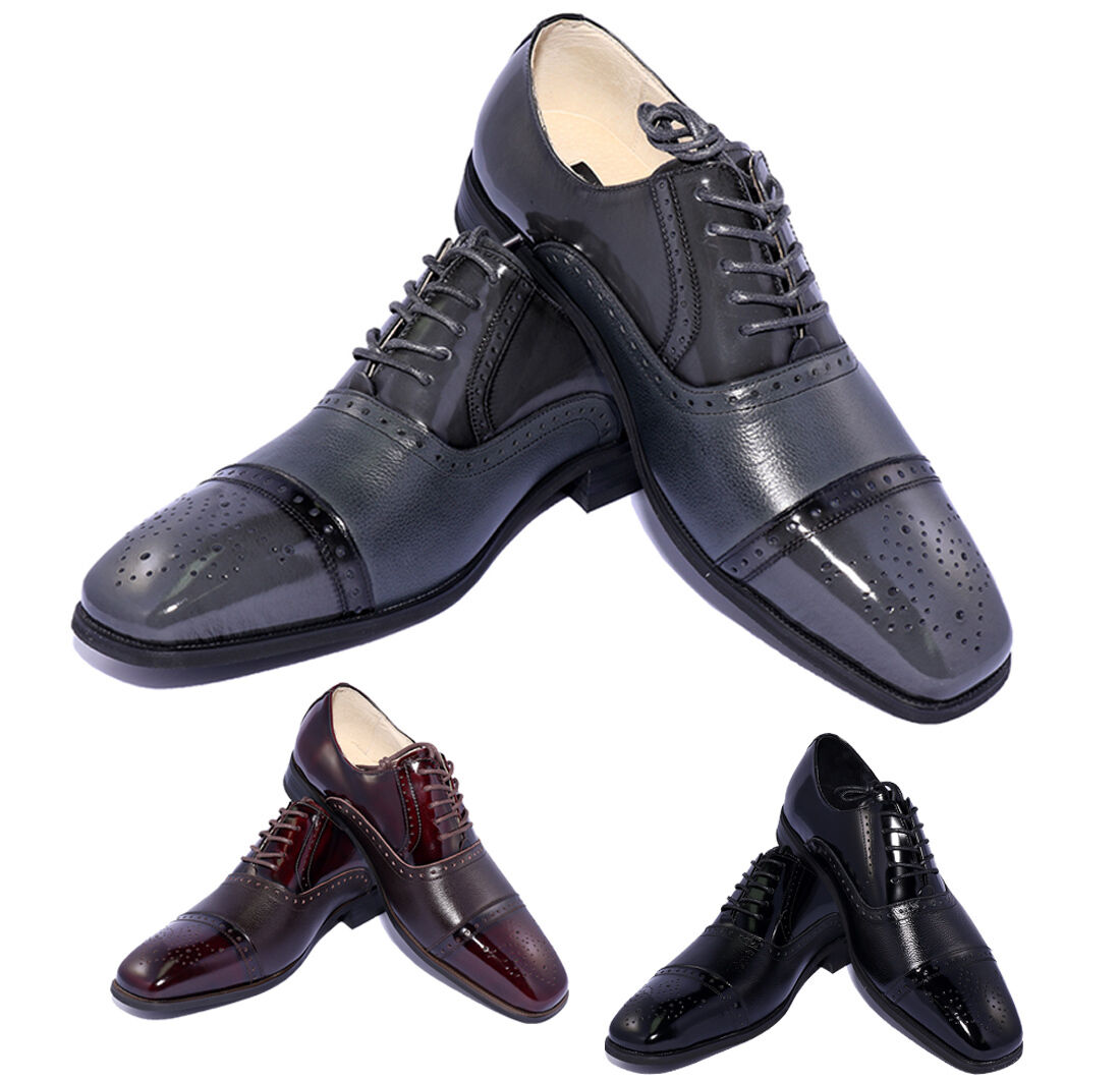 NEW Uomo Giorgio Venturi 5925 Classic Cap-Toe Oxfords Fashion Dress shoes 3 Color
