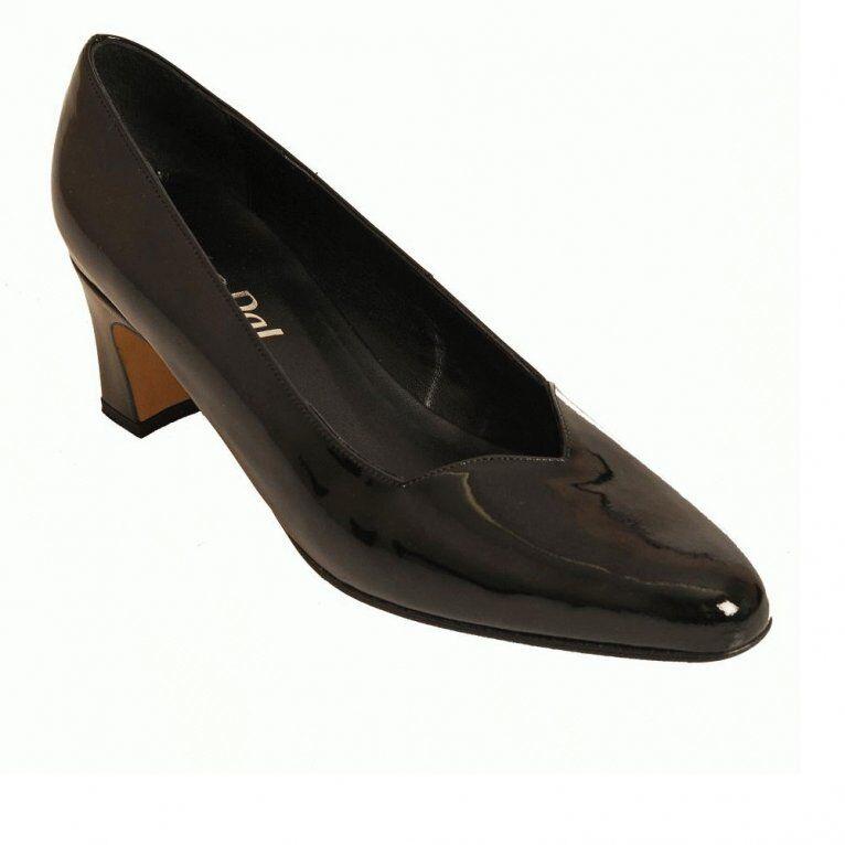 VAN DAL RITZY BLACK COURT PATENT LEATHER LOW HEEL COURT BLACK Schuhe UK 5 EU 38 LN15 63 1302bb