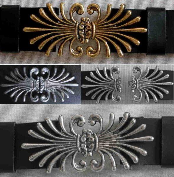 Agressif Premium Boucle De Ceinture Neuf Moyen Age En 2 Couleurs F. 5 Cm De Large Ceinture 2-tig. #