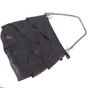 3b8b1f45c7e0f Das Bild wird geladen PATRIZIA-PEPE-Handtasche-Damen-Schwarz-Tasche -Schultertasche-Kettenhenkel-
