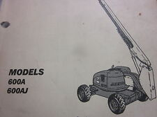 jlg heavy equipment manuals books for boom lift jlg 600a 600aj boom lift parts manual year 1996