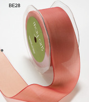 1.5 Inch Solid Two Tone Ribbon - May Arts - Be28 - Peach - 5 Yards
