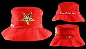 1cbb8c74412 Order of Eastern Star Bucket Hat (S M 7 1 8 to 7 3 8)or (L XL 7 1 2 ...