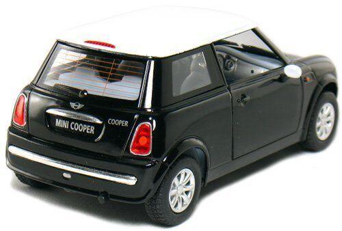 """Brand New 5/"""" Kinsmart Mini Cooper Diecast Model Toy Car 1:28 Pull Action Black"""