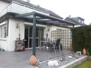 Terrassendach Alu Stegplatten 300kg Tragkraft klar Terrassenüberdachung10m breit