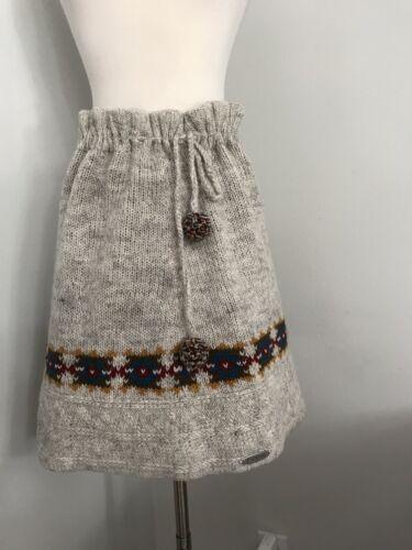 Everest M Avorio Sz foderata di gonna Designs maglia coulisse Nwt vita a con Chamonix con in lana dEqadZ1