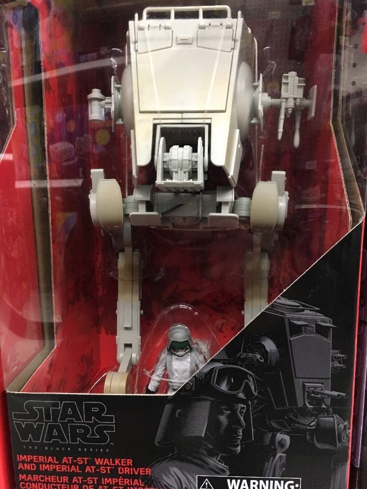 STAR WARS schwarz SERIES  IMPERIAL AT-ST WALKER & AT-ST DRIVER NEW SEALED