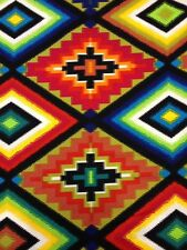 AH28 Ojo De Dios Aztec Horse Blanket Pattern Tribal Cotton Fabric Quilt Fabric