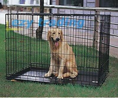 """[XLarge] 42"""" VEBO Collapsible Metal Pet Dog Cage / Crate"""