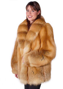 6b79e0d06e Image is loading Womens-Real-Red-Fox-Fur-Coat-Jacket-Natural-