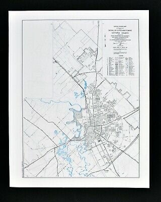 Texas Map Victoria County Plan Guadalupe River University Of
