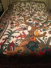 Very Thin Cotton Single Bed Spread Or Wall Hanging-India Arts
