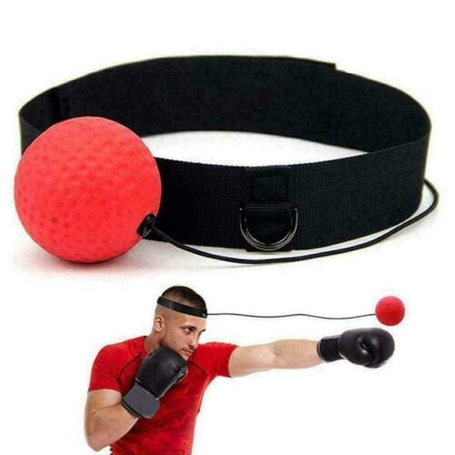 NEW UK Gym Boxing Fight Ball with Head Band Reaction Speed Boxer Training Punch