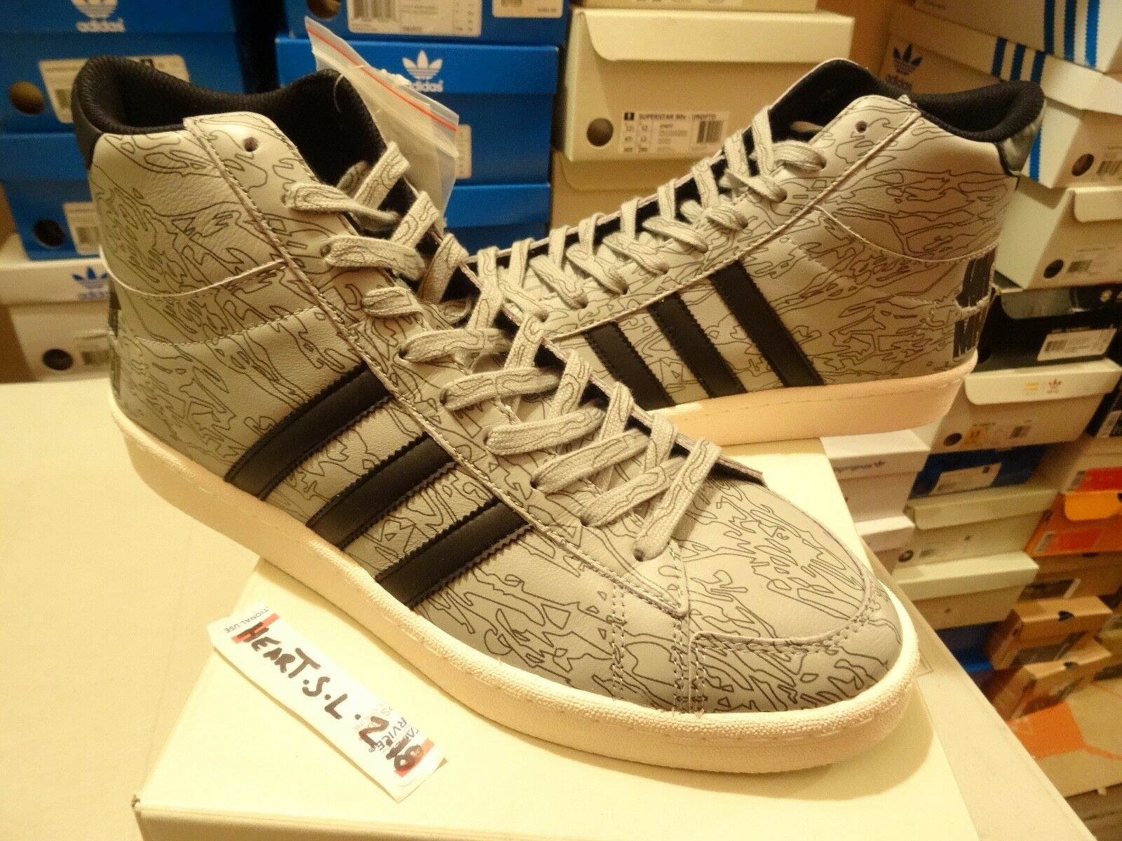 NEW RARE Adidas X Jabbar Mid Undefeated X MHI B33982 Black White SZ 12 RARE