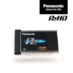 Panasonic-Card-AJ-P2C064AG-64-GB-P2-Speicher-Karte-Black-A-Series-MwSt-Rng