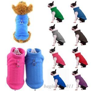 Haustier-Hund-Jacke-Weste-Kleidung-Welpen-Soft-Fleece-Winter-Warm-Mantel-Kostueme