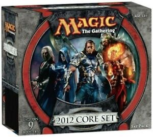 M12-CORE-SET-2012-MtG-Magic-Gathering-sealed-FAT-PACK-card-Box-9-Booster-Packs