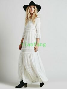 Womens-Boho-Embroidery-Floral-Cotton-Blend-Maxi-Casual-Skirt-Dresses-2018-New