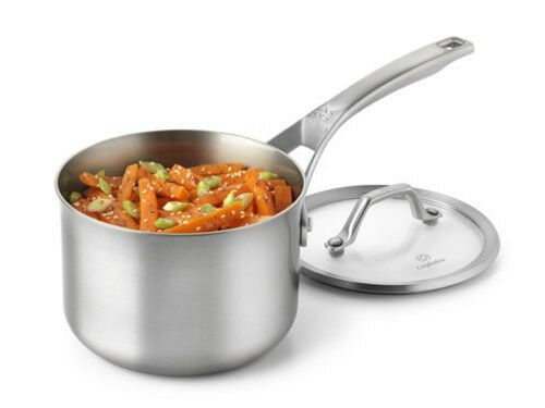 Calphalon Accucore 2 Qt. Saucepan W. Lid  Stainless Steel, Alluminum, Copper New