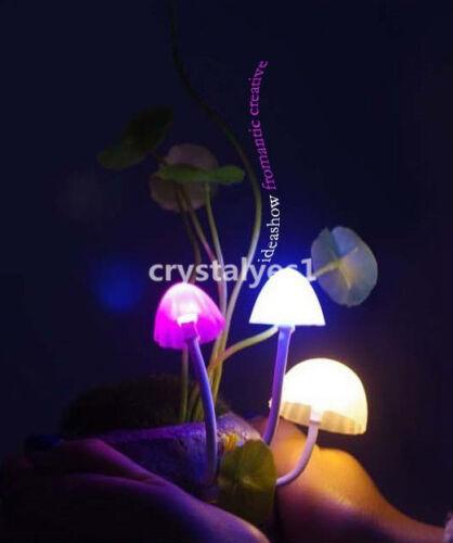Romantic Magic Creative Mushroom LED ceramic Light sensor Lamp for Avatar J001