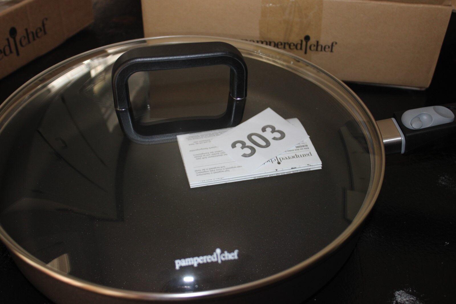 Pamperouge Chef nouveau 12  antiadhésif poêle objet  2737 amovible poignée avec couvercle  2747