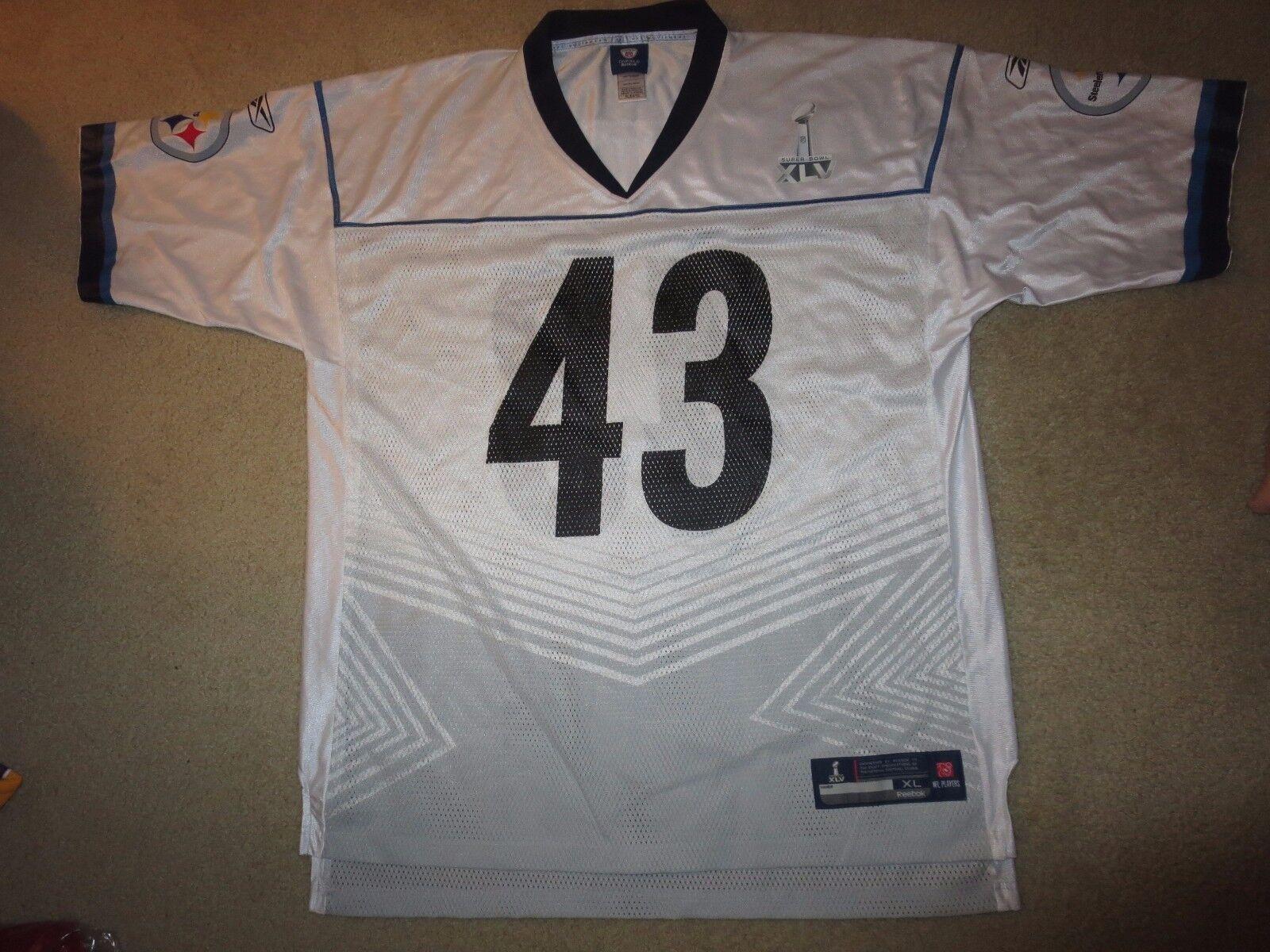 Troy Polamalu  43 Pittsburgh Steelers Super Bowl 43 43 43 Reebok NFL Trikot 9ec93d