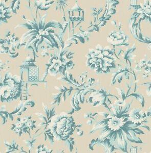 """Wallpaper Floral Blue Metallic Modern Wall Decor- 20.5"""" x ..."""