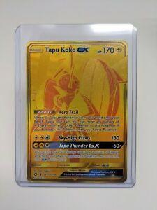 Pokemon-Shining-Tapu-Koko-GX-Hidden-Fates-Shiny-Rare-SV93-SV94-Secret-Gold-M-NM