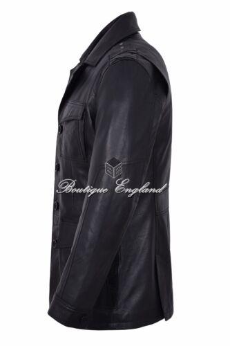 """/""""TROPIC SAFARI/"""" Uomo Nero Pelle D/'Agnello Fashion Designer Giacca in Vera Pelle Cappotto"""