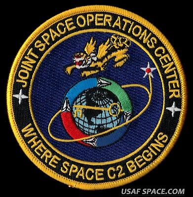 USAF JFCC JOINT SPACE OPERATIONS CENTER - WHERE SPACE C2 BEGINS VAFB PATCH