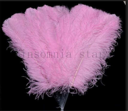 Natural pink Ostrich Feather 6-32 Inch//15-80 CM 100pcs Carnival Diy costume mask