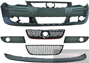 Stosstange-vorne-fur-VW-Polo-9N-Wabengrill-Frontschurze-Schurze-GTI-Optik-9N3
