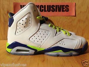 b259698ad941 Nike Air Jordan VI Retro 6 GS White Grape Deep Royal Fierce Green ...