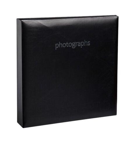 """Álbum De Fotos Negro sostiene 200 4/"""" X 6/"""" Slip en espacio de escritura de notas familia bbzz"""