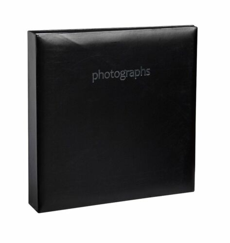"Black Photo Album Holds 200 of  4/"" x 6/"" Photographs Padded Cover BBZZ"