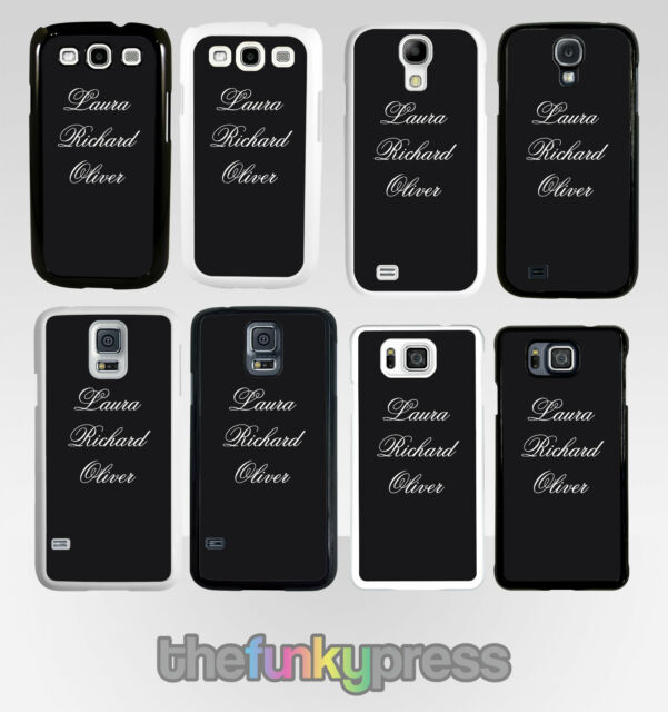 new product 6ce8e b8d8f Personalised Name Family Plastic Case Samsung Galaxy S6 S7 S8 Edge Plus