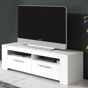 Mobile porta Tv CRETA base televisione moderno bianco opaco salotto soggiorno