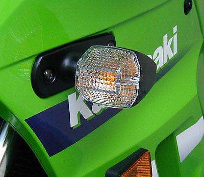 KAWASAKI CLEAR INDICATOR LENS PAIR ZX6-R ZX7-R ZX9-R GPZ500S ZR7 LENSES 1990-99