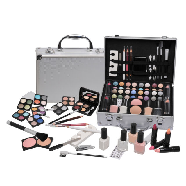 Vanity Case Beauty Cosmetic Set Travel Make Up Box Train Holder Storage 58 Piece