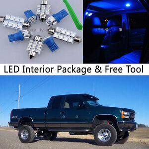 14pcs blue led interior lights package kit fit chevy - Led interior lights for 2013 chevy silverado ...