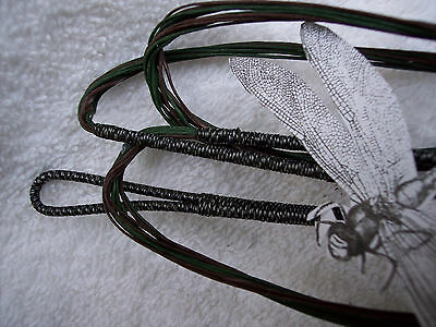 "Bow String-Gold//Brown//Green 62/""AMO recurve-Actual length 58/"" Bowstring endless."