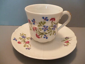 """belle tasse et sous-tasse a café ancienne en porcelaine-decor""""barbeau"""" 3uj9AstJ-09122704-484438739"""