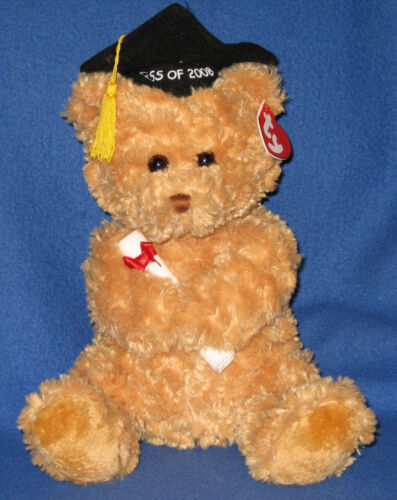 TY CLASSIC PLUSH - GRADS the 2008 GRADUATION BEAR  - MINT with MINT TAGS