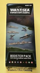 Axis-amp-Allies-War-at-Sea-Condition-Zebra-Booster-Pack-from-SEALED-Case-NEW-A-amp-A