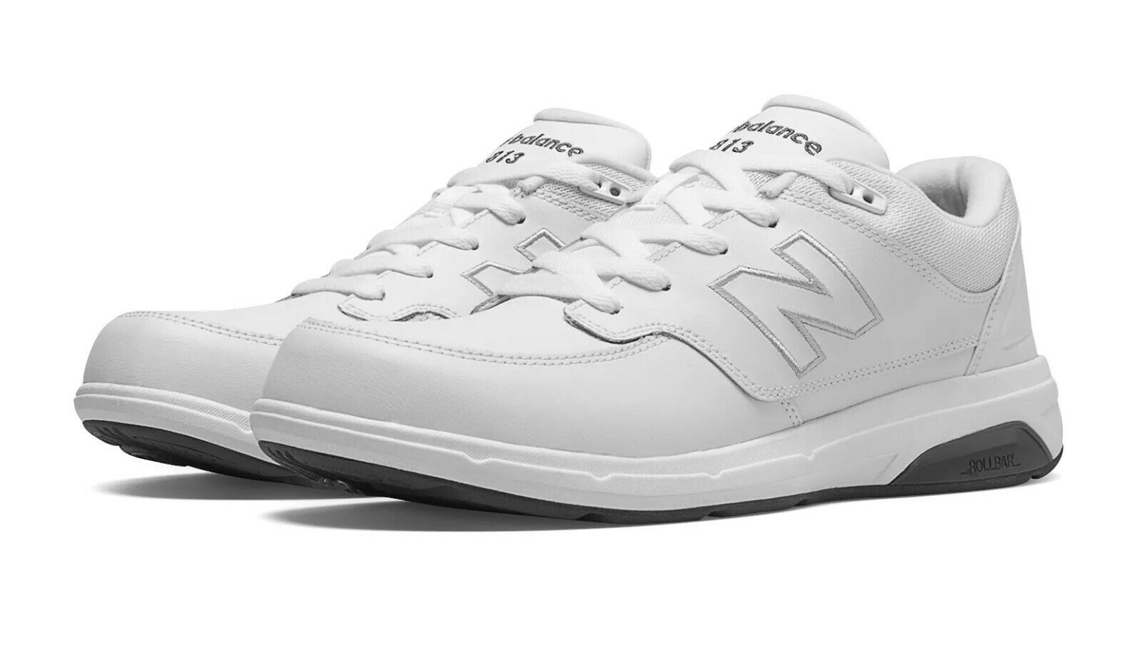 New Balance Men's MW813WT Walking shoes, White, Size 8.5D, New in Box